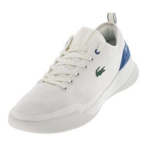 Men`s Lt Dual 118 Tennis Shoes Off White and Dark Blue