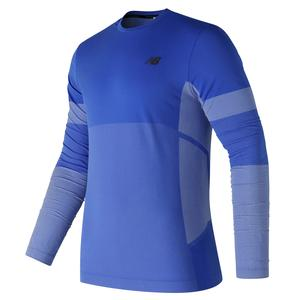 Men`s Stretch Long Sleeve Tennis Top Pacific