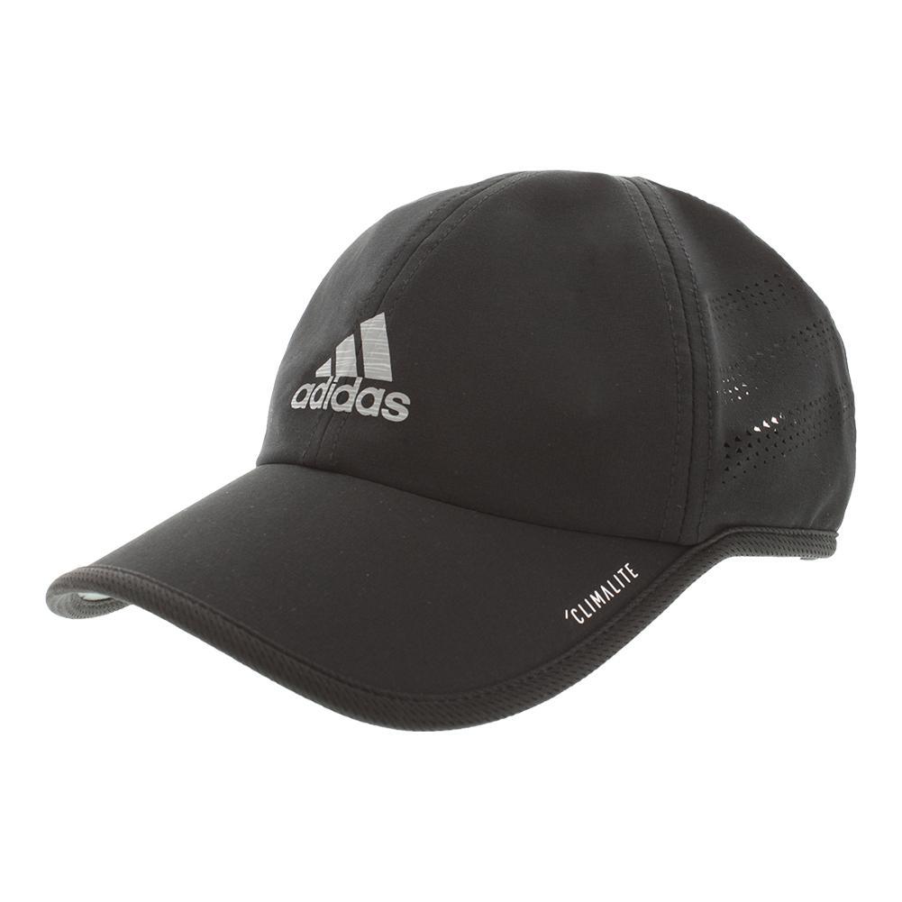 Men's Superlite Pro Tennis Cap Black And Silver Refective