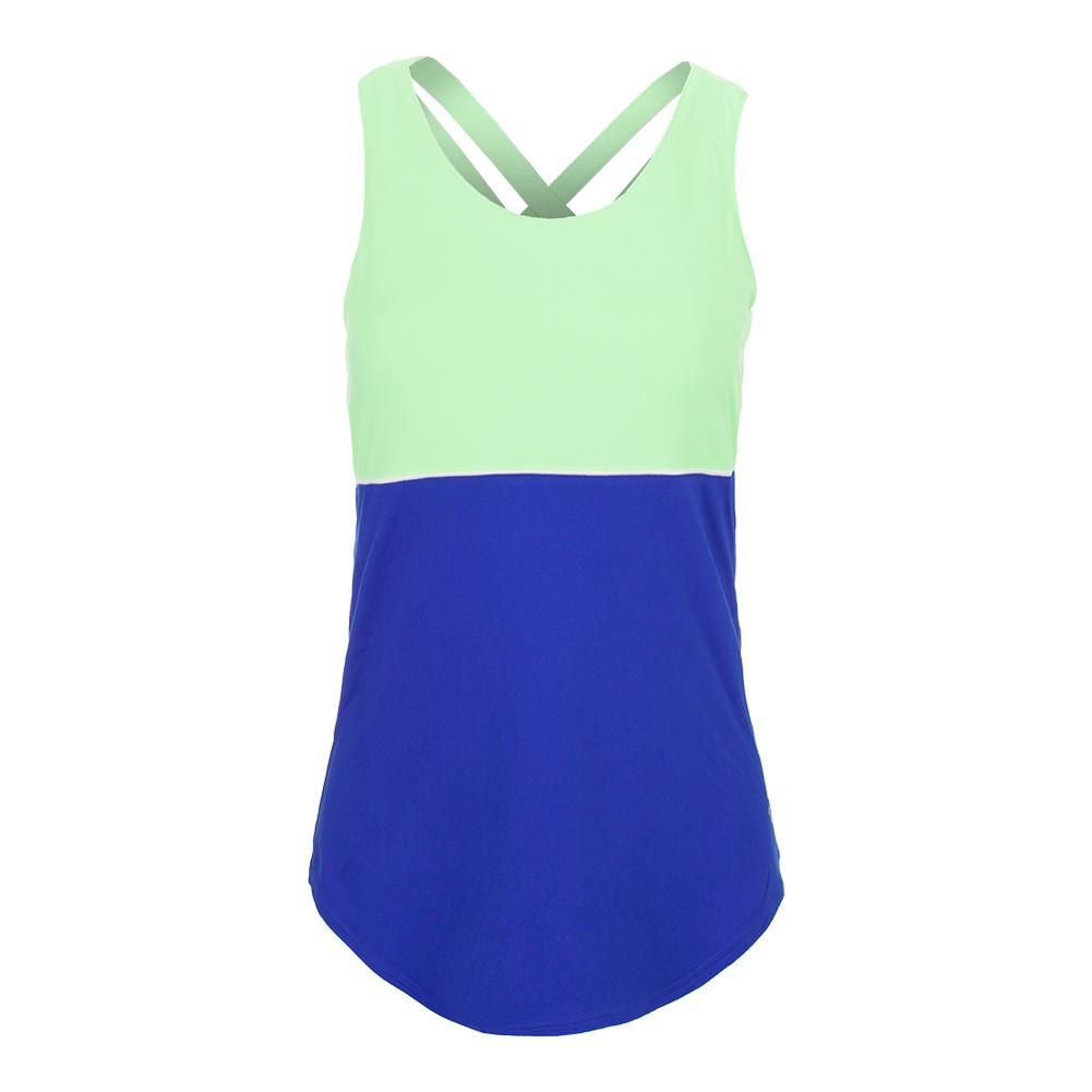 Women's Loop Back Tennis Tank Blueberry