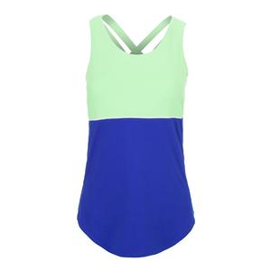Women`s Loop Back Tennis Tank Blueberry
