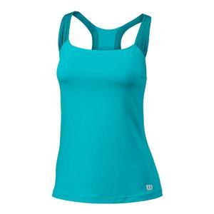 Women`s Core Classic Tennis Tank Blue Curacao
