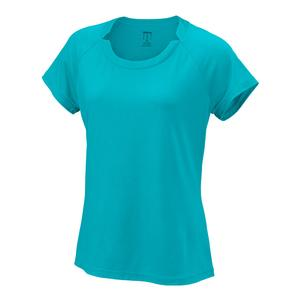 Women`s Condition Tennis Tee Blue Curacao