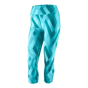 Women`s Printed Tennis Tight Bluebird