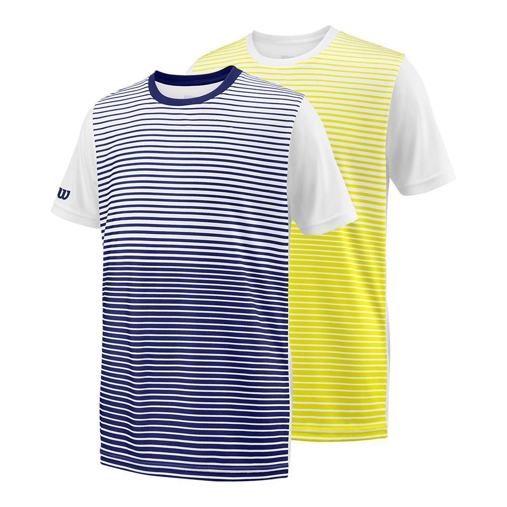Boys ` Team Striped Tennis Crew
