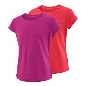 Girls` Cap Sleeve Tennis Top