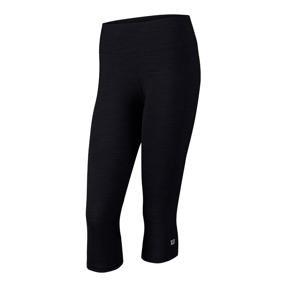 Women's Rush 3/4 Tennis Tight Black