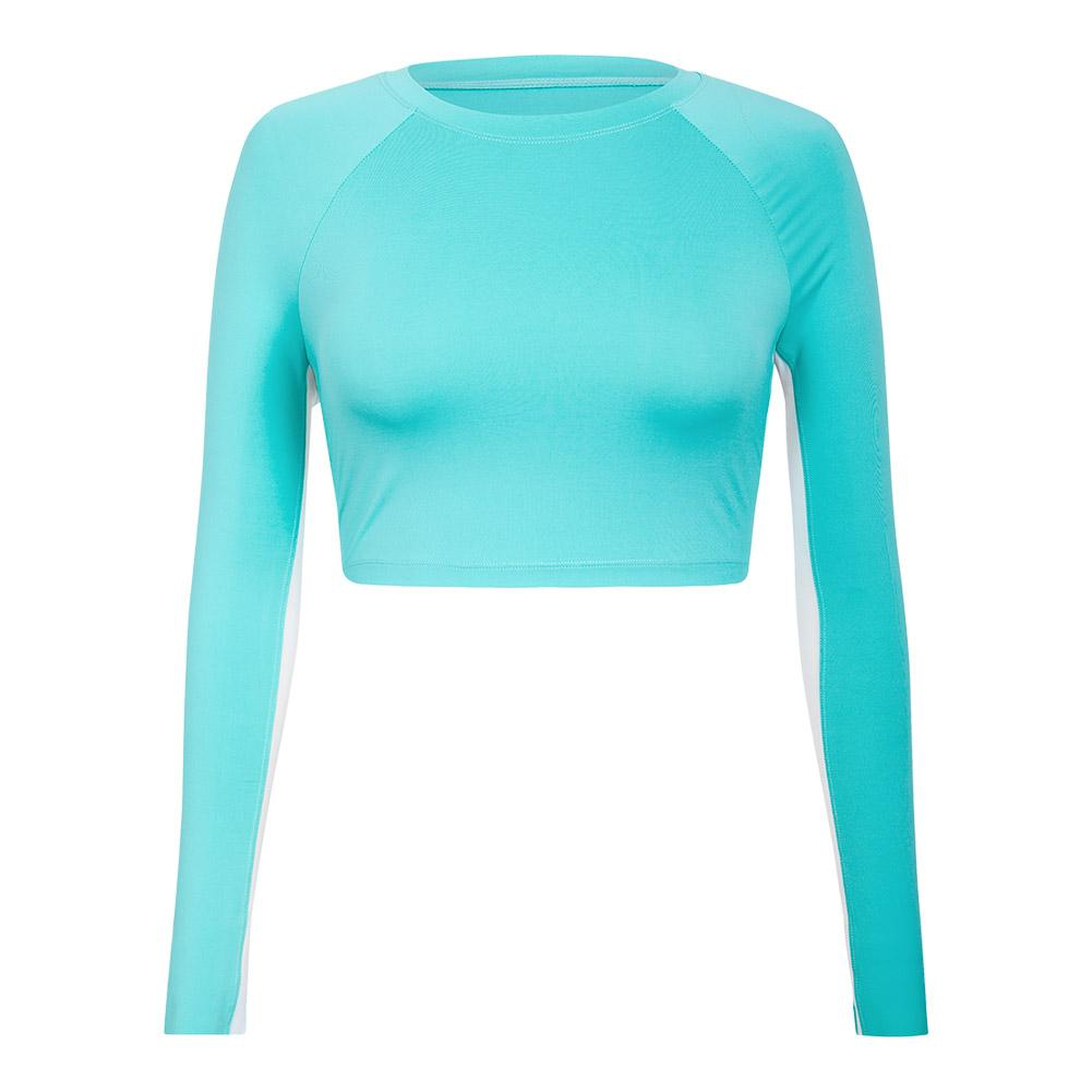 Women's Sasha Long Sleeve Tennis Top Ocean Mist