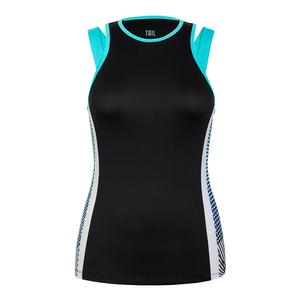 Women`s Dwight Tennis Tank Black and Velocity
