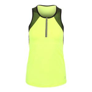 Women`s Zip Tennis Tank Electric Yellow