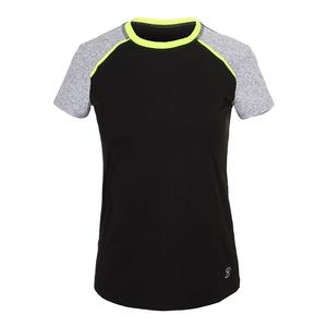 Women`s Rally Short Sleeve Tennis Top Black