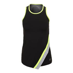 Women`s Asymmetric Tennis Tank Black