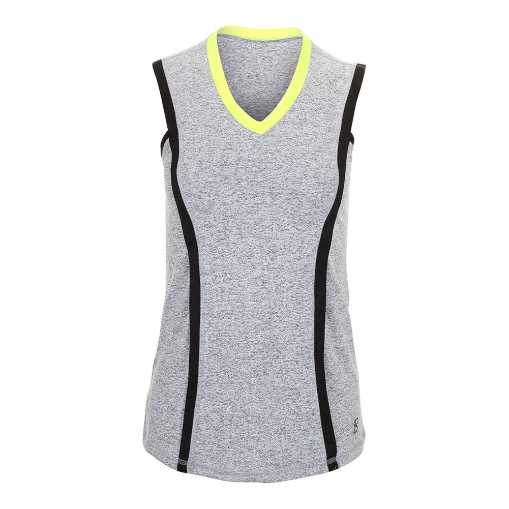 Women's Banded Tennis Tank Spicy