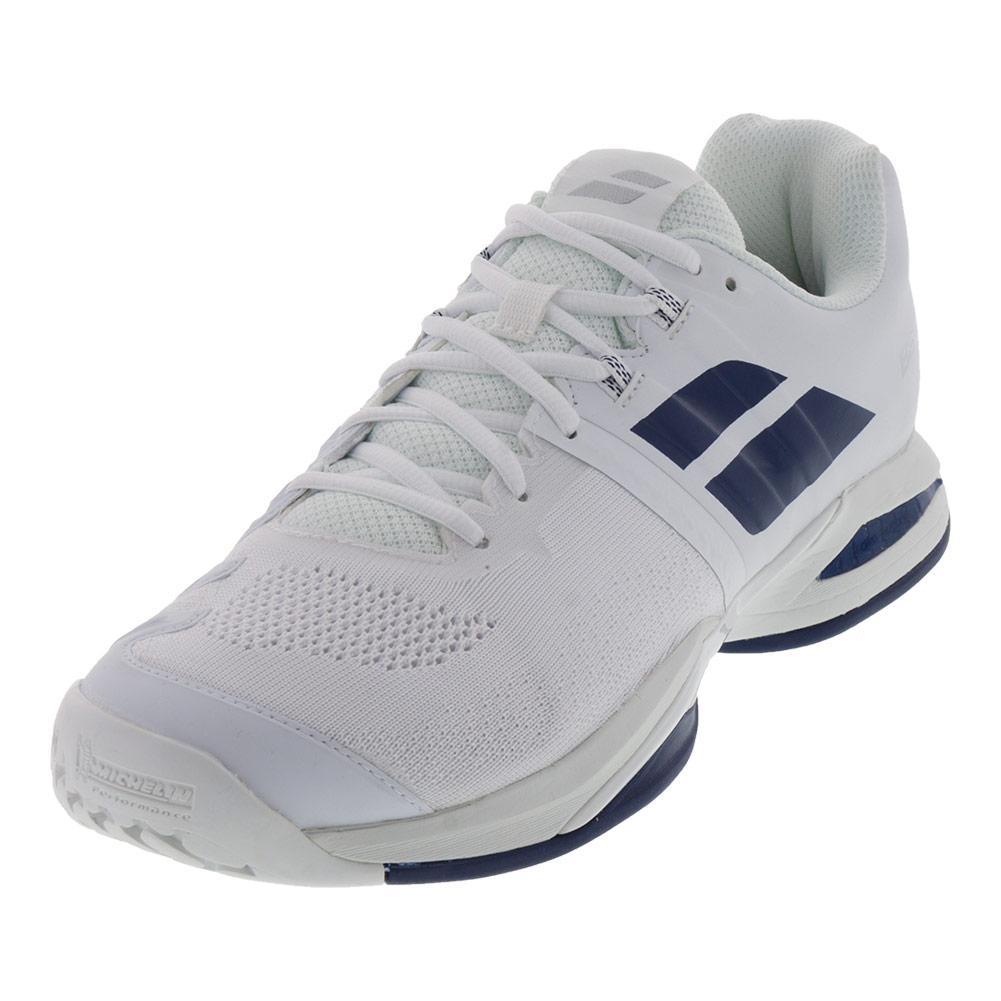 Men's Propulse Blast Tennis Shoes White And Estate Blue