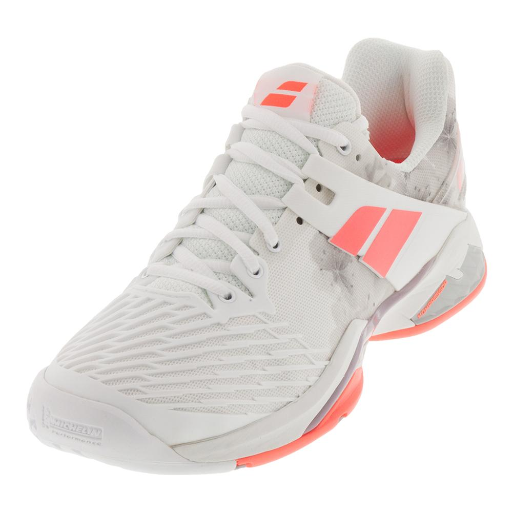dc952e925ae Babolat Women s Propulse Fury All Court Shoe in White and Fluo Strike