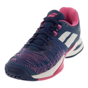 Women`s Propulse Blast Tennis Shoes Estate Blue and Fandango Pink