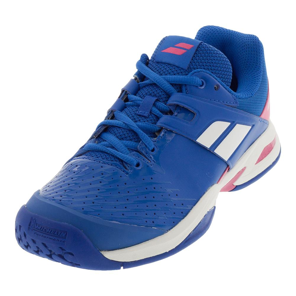 Juniors ` Propulse Fury All Court Tennis Shoes Princess Blue And Fandango Pink