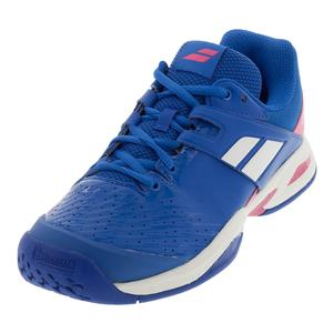 Juniors` Propulse Fury All Court Tennis Shoes Princess Blue and Fandango Pink