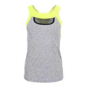 Women`s Crosscourt Tennis Tank Spicy and Electric Yellow