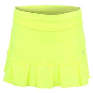 Women`s Match Point 13 Inch Tennis Skort Electric Yellow