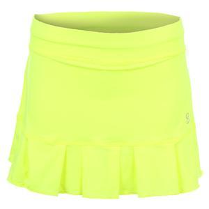 Women`s Match Point 13 Inch Tennis Skort Electric Yellow