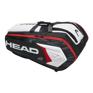 Djokovic Monstercombi Tennis Bag Black and White