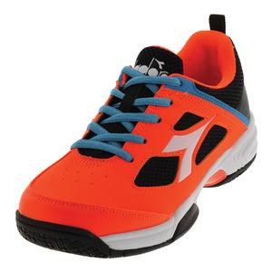 Juniors` S Fly Tennis Shoes Orange and Black