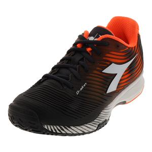 Men`s S Competition 4 Ag Tennis Shoes Orange and Black