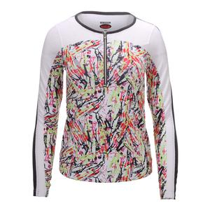 Women`s Capri Graphic Long Sleeve Tennis Top