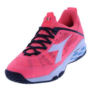 Women`s Speed Blushield Fly Ag Tennis Shoes Fluo Coral and White