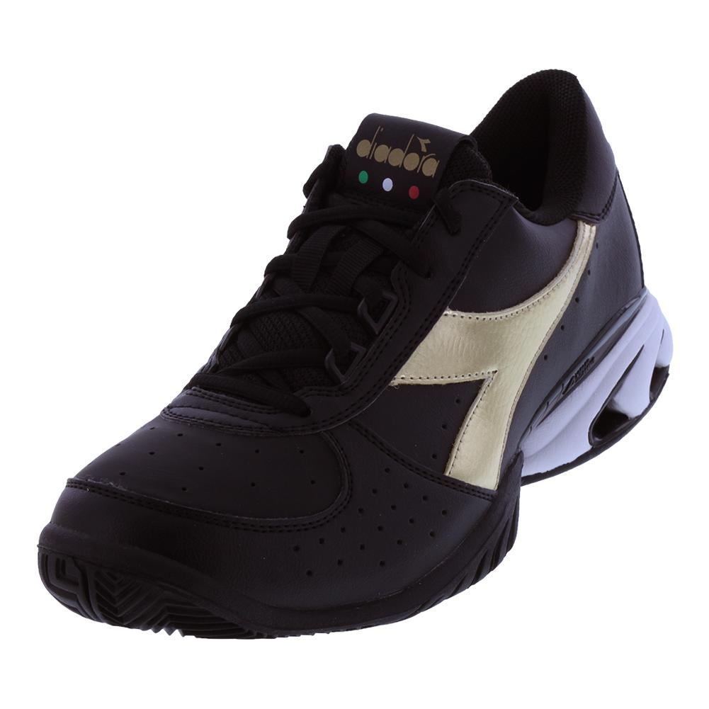 Unisex S Star K Elite Ag Tennis Shoes Black And Gold