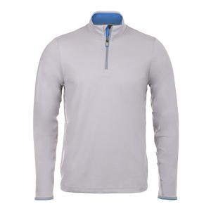 Men`s Lightweight Performance Half Zip Tennis Top Taylor Heather