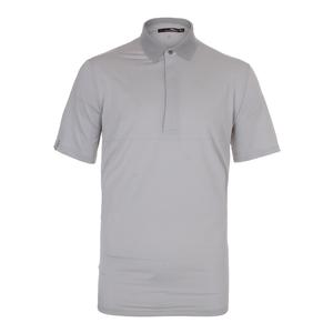 Men`s Leightweight Stripe Airflow Tennis Top Pure White and Taylor Heather