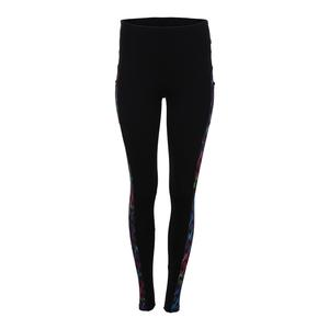Women`s Tennis Legging Black and Flow Print