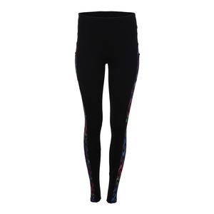 Women`s Tennis Legging Black and Flow Print