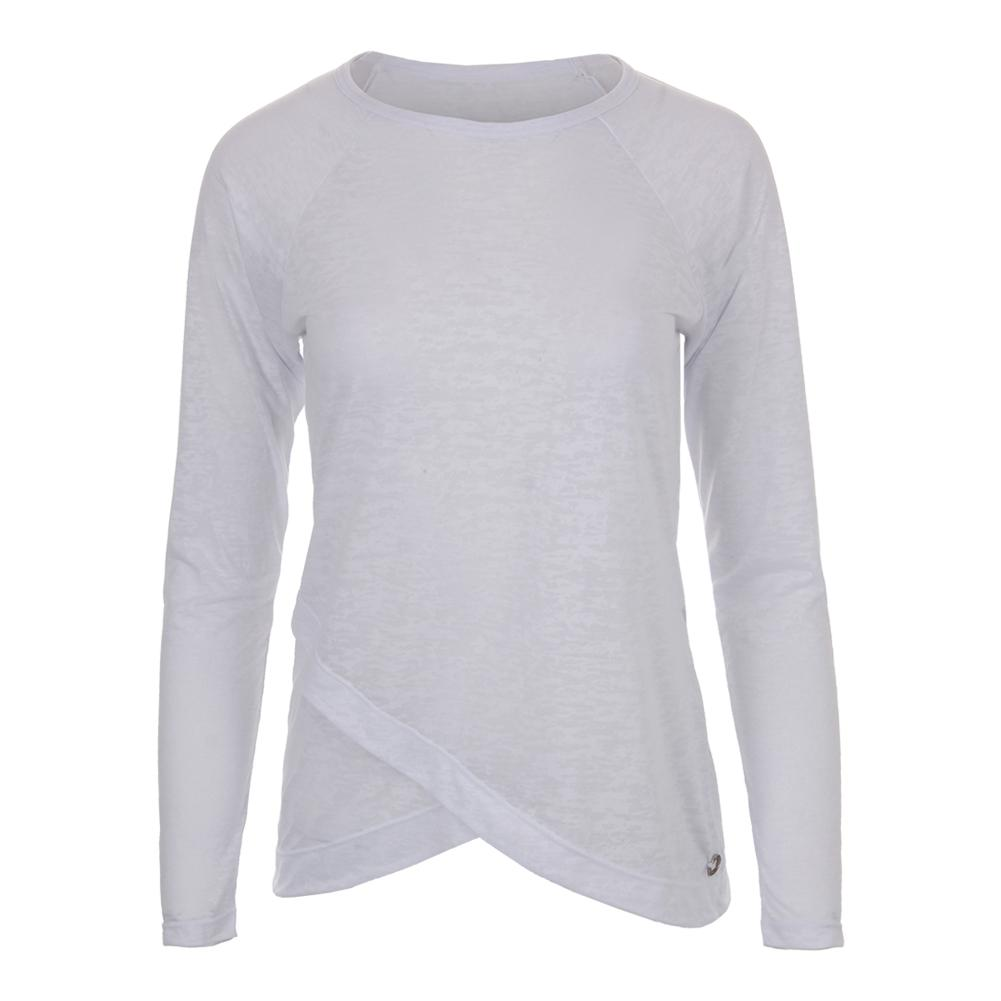 Women's Burnout Long Sleeve Tennis Top White