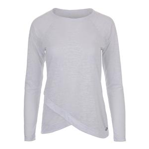 Women`s Burnout Long Sleeve Tennis Top White