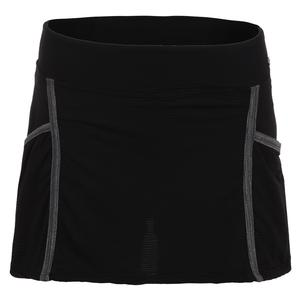 Women`s Elegant Tennis Skirt Black and Gray