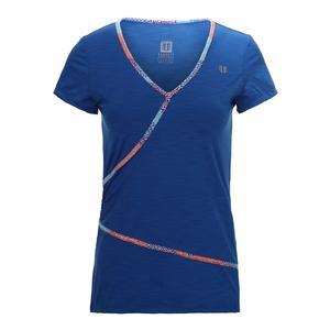 Women`s Wrap Short Sleeve Tennis Top Turkish Sea