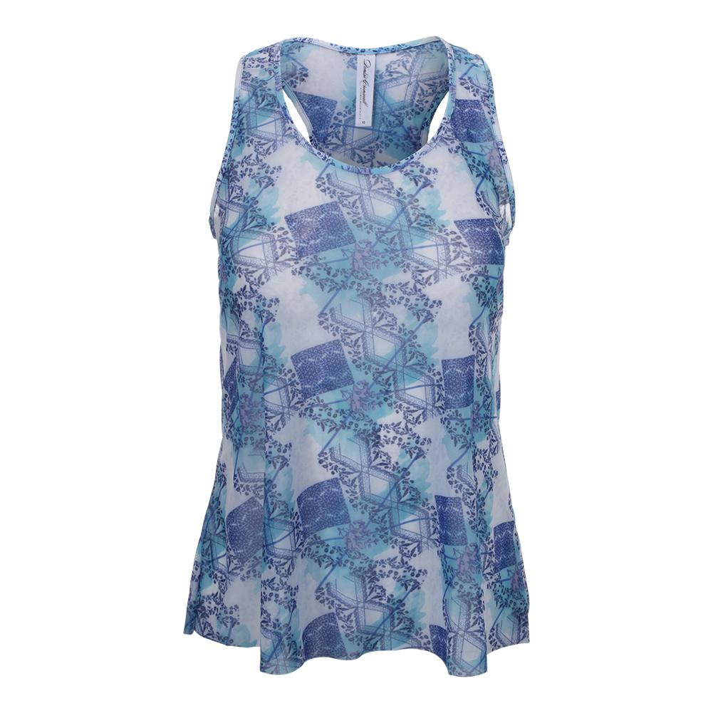 Women's Layer Tennis Top Scotia Print