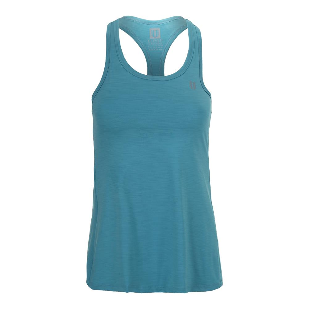Women's Race Day Tennis Tank Turquoise