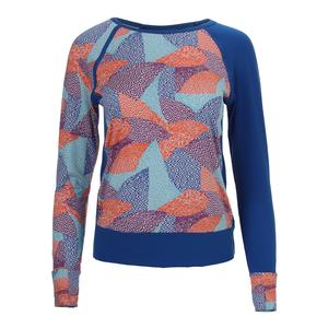 Women`s Traverse Long Sleeve Tennis Top Aztec Print