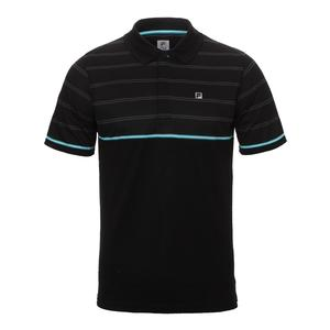 Men`s Set Point Striped Tennis Polo