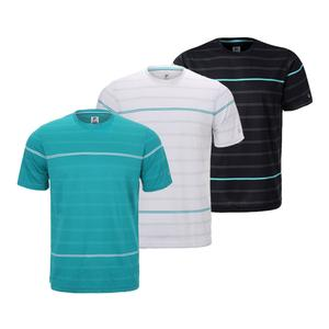 Men`s Set Point Striped Tennis Tee