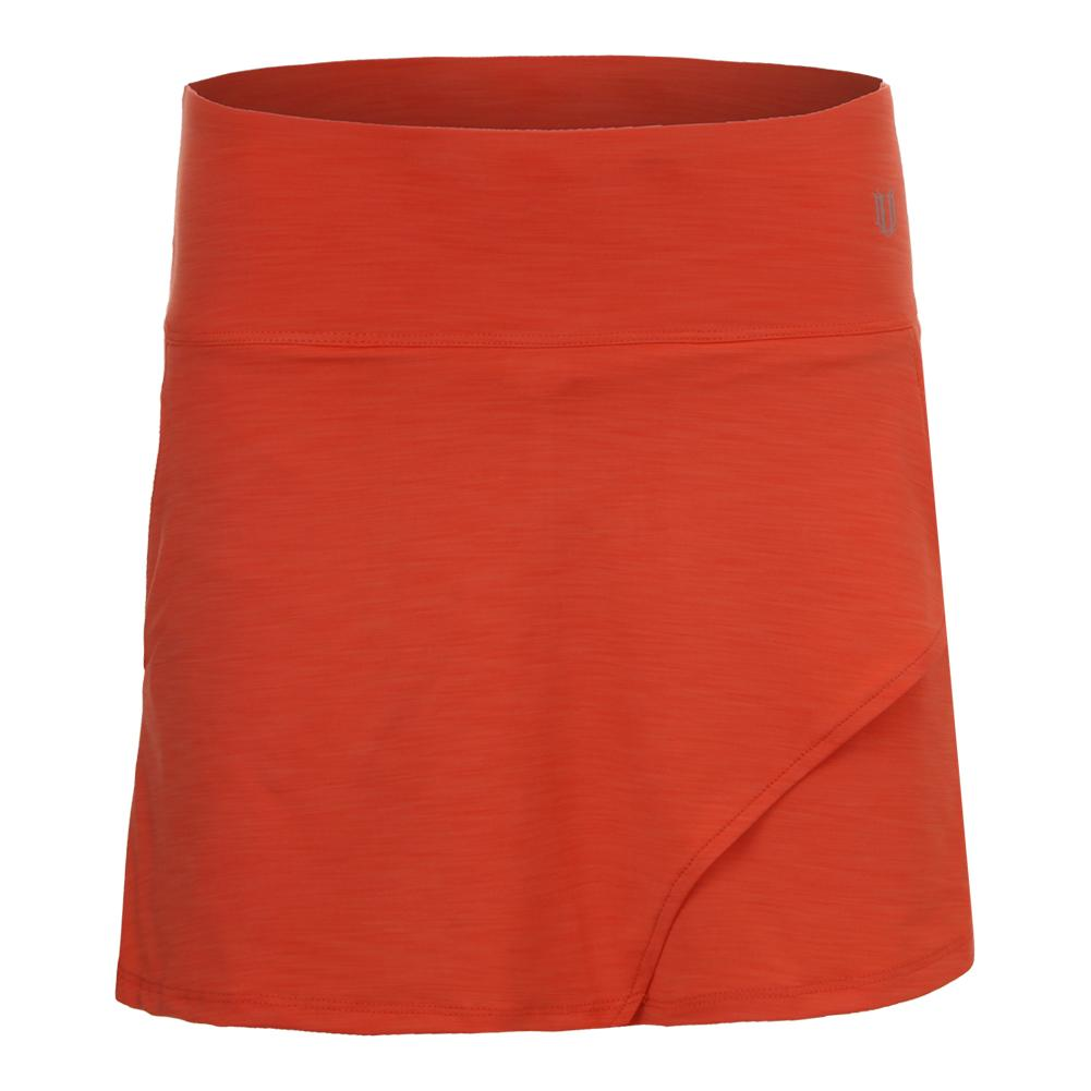 Women's Fly 14 Inch Tennis Skort Orange