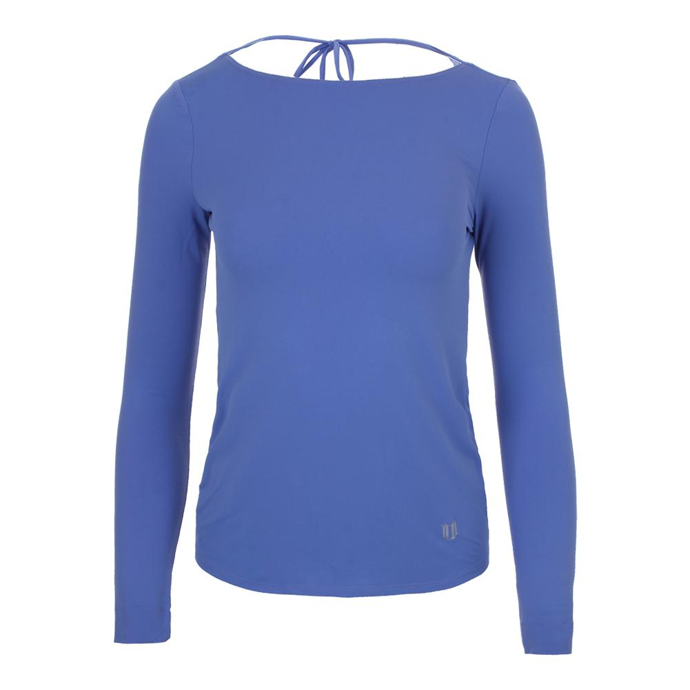 Women's Relaxed Long Sleeve Tennis Top Baja Blue