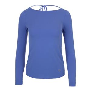 Women`s Relaxed Long Sleeve Tennis Top Baja Blue