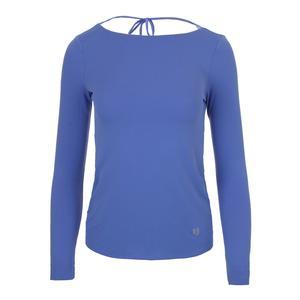 Women`s Relaxed Long Sleeve Tennis Top Baja Blue