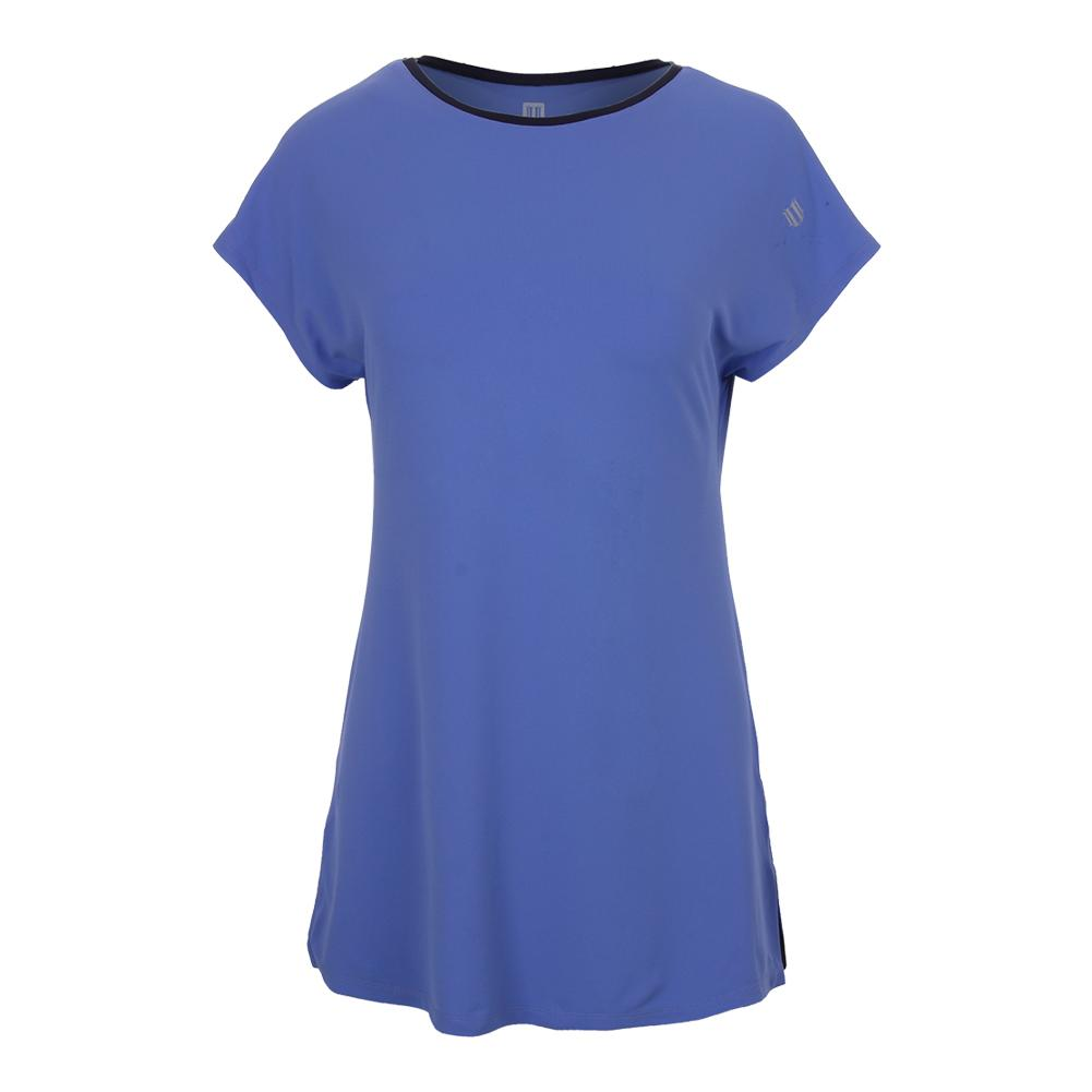Women's Foundation Short Sleeve Tennis Top Baja Blue