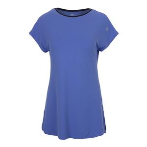 Women`s Foundation Short Sleeve Tennis Top Baja Blue